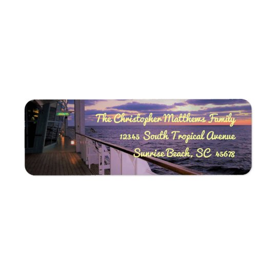 Morning on Deck Personalized Return Address Label