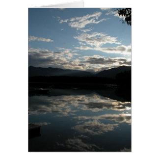 Morning on Lake Five Card