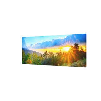 morning on mount mitchell canvas print