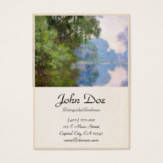 Morning on the Seine near Giverny Claude Monet Business Card