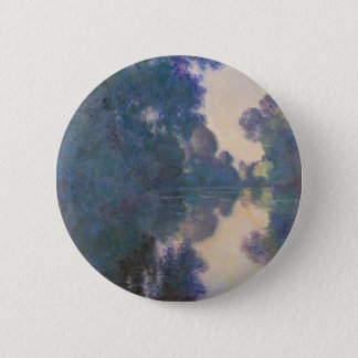 Morning on the Seine near Giverny - Claude Monet.j 2 Inch Round Button