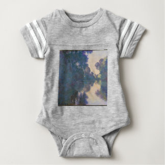 Morning on the Seine near Giverny - Claude Monet.j Baby Bodysuit