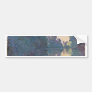 Morning on the Seine near Giverny - Claude Monet.j Bumper Sticker