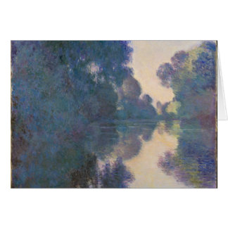 Morning on the Seine near Giverny - Claude Monet.j Card