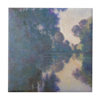 Morning on the Seine near Giverny - Claude Monet.j Ceramic Tile