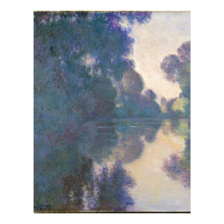 Morning on the Seine near Giverny - Claude Monet.j Letterhead
