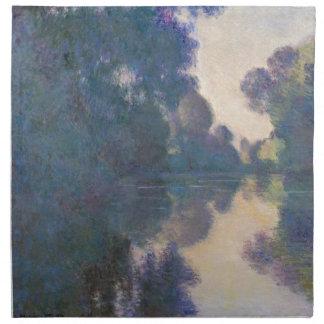 Morning on the Seine near Giverny - Claude Monet.j Napkin