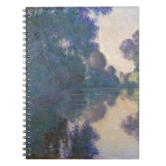 Morning on the Seine near Giverny - Claude Monet.j Notebook