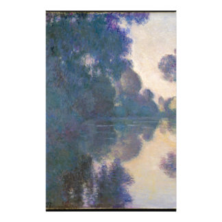 Morning on the Seine near Giverny - Claude Monet.j Stationery