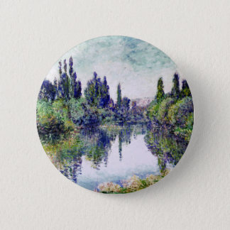 Morning on the Seine, near Vetheuil - Claude Monet 2 Inch Round Button