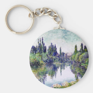 Morning on the Seine, near Vetheuil - Claude Monet Keychain