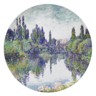 Morning on the Seine, near Vetheuil - Claude Monet Plate