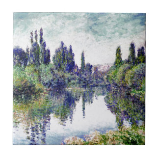 Morning on the Seine, near Vetheuil - Claude Monet Tile
