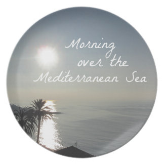Morning over the Mediterranean Sea Plate
