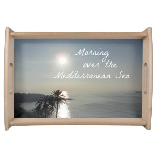 Morning over the Mediterranean Sea Serving Tray