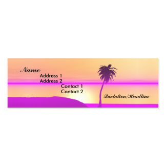 Morning Palm - Skinny Pack Of Skinny Business Cards