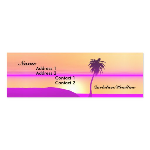 Morning Palm - Skinny Business Card