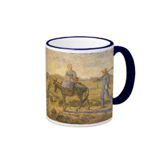 Morning: Peasant Couple Going to Work by van Gogh Ringer Mug