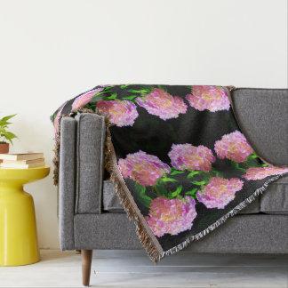 Morning Pink Whisper  2- Hydrangea Throw Blanket