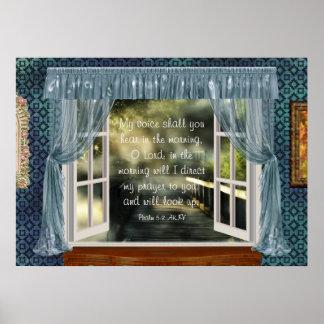 Morning Prayer Scripture Poster