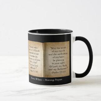 Morning Prayers Scripture Mug (Personalized)