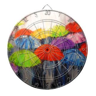 Morning rain dartboard