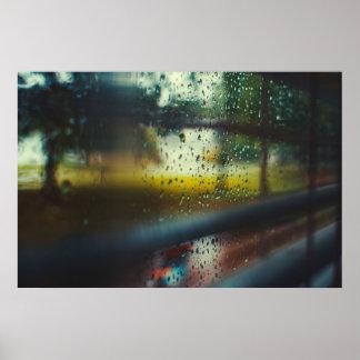 Morning Rain Poster