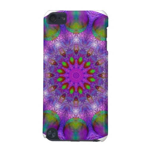 Morning Rainbow Mandala, Abstract Purple Plum iPod Touch (5th Generation) Cover