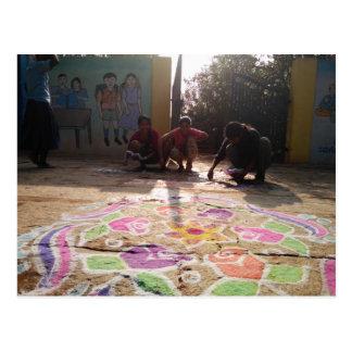 Morning Rangoli Art at Baale Mane! Postcard
