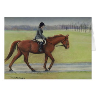 Morning Ride Horse Art Note Card