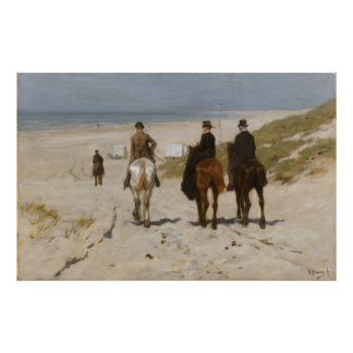 Morning Ride on the Beach - Anton Mauve Poster