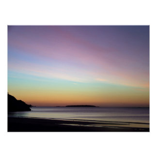 Morning Sky at Singing Beach Poster
