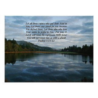 Morning Sky & Lake Psalms 5:11,12 Print