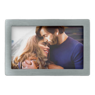 Morning Snuggle Rectangular Belt Buckle