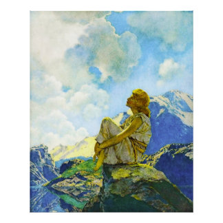 Morning Spring by Maxfield Parrish Print
