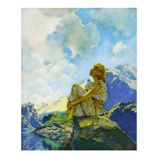 Morning (Spring), by Maxfield Parrish Print