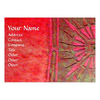 MORNING STAR , MONOGRAM BUSINESS CARD TEMPLATE