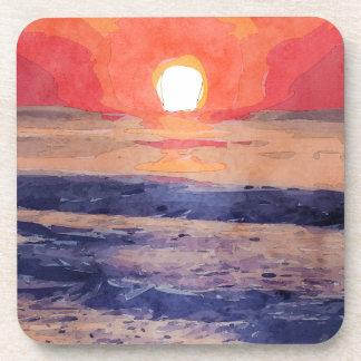 Morning Sun Over Atlantic Ocean Coaster