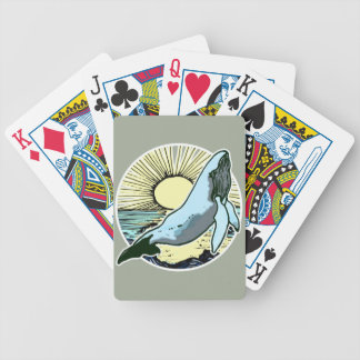 Morning sun whale 2 bicycle playing cards