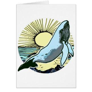 Morning sun whale 2 card