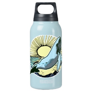 Morning sun whale 2 insulated water bottle