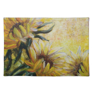 Morning sunflowers painting placemat