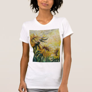 Morning sunflowers painting T-Shirt