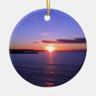 Morning Sunrise Ceramic Ornament