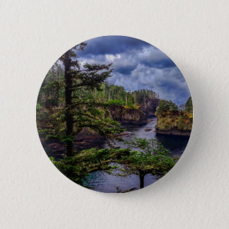 morning sunrise olympic peninsula Cape Flattery 2 Inch Round Button