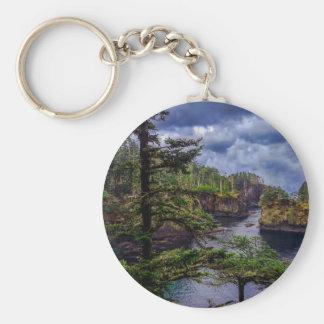 morning sunrise olympic peninsula Cape Flattery Basic Round Button Keychain