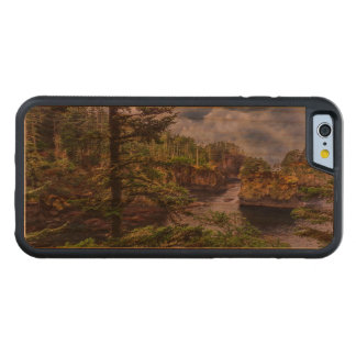 morning sunrise olympic peninsula Cape Flattery Carved Cherry iPhone 6 Bumper Case
