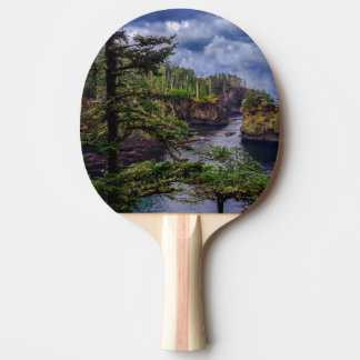 morning sunrise Olympic peninsula Cape Flattery Ping Pong Paddle