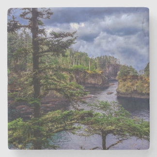 morning sunrise olympic peninsula Cape Flattery Stone Coaster