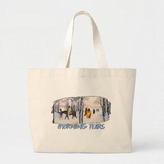 Morning Tears Large Tote Bag